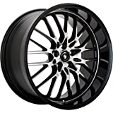 """Konig Lace Black Wheel with Machined Face (17x7""""/5x100mm)"""
