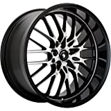 "Konig Lace Gloss Black Wheel with Mirror Machined Face (17x8""/5x112mm)"