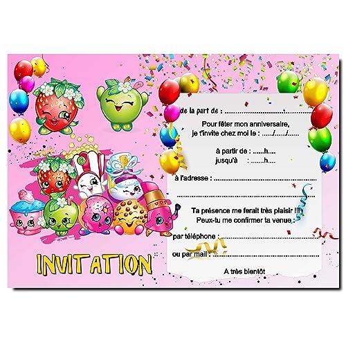 Cartes Invitation Anniversaire Enfant Par 12 Avec Enveloppes Ref 450 Amazon Fr Handmade