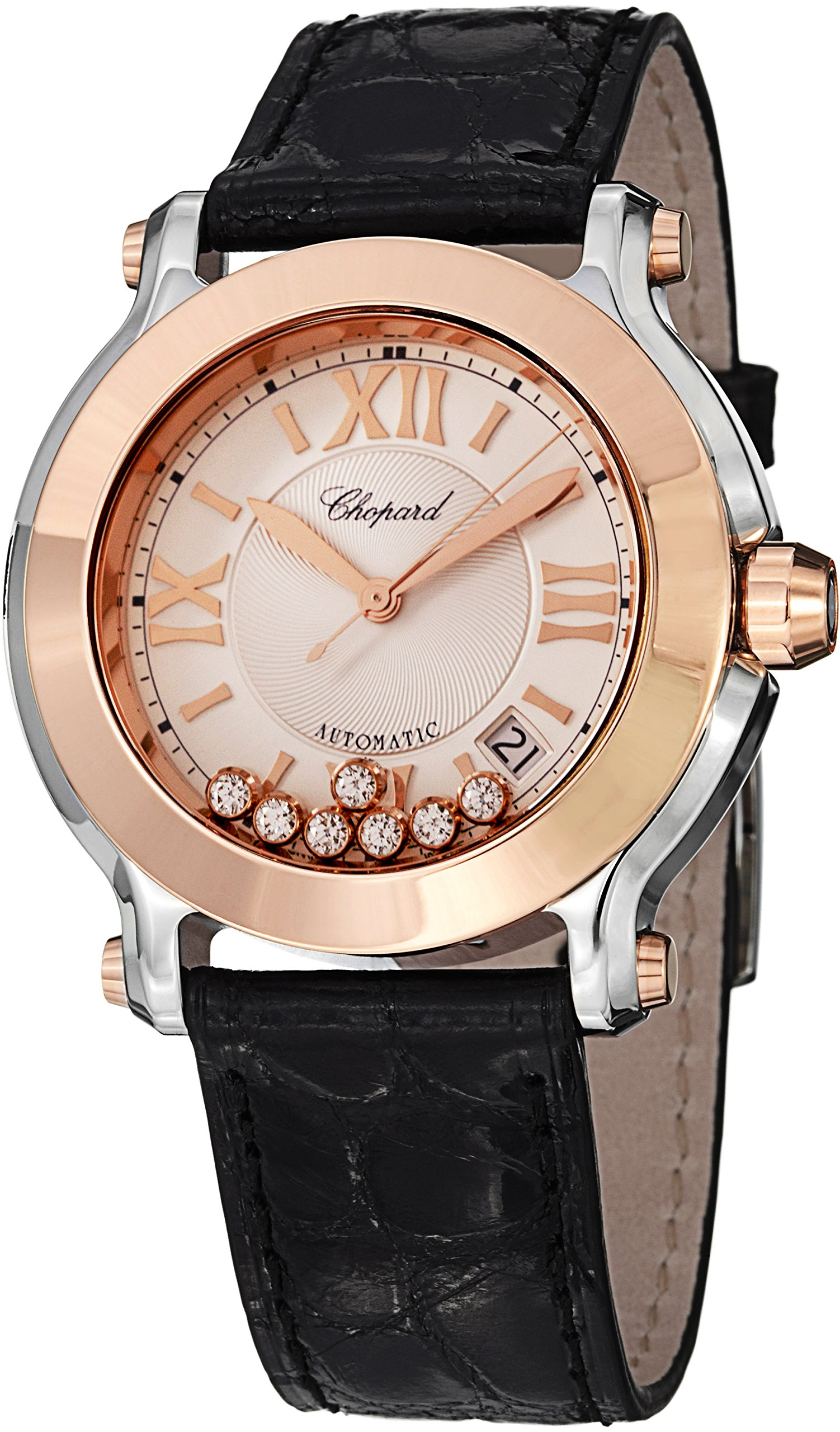 Chopard Happy Sport Women's Two Tone Diamond Watch 278559-6001