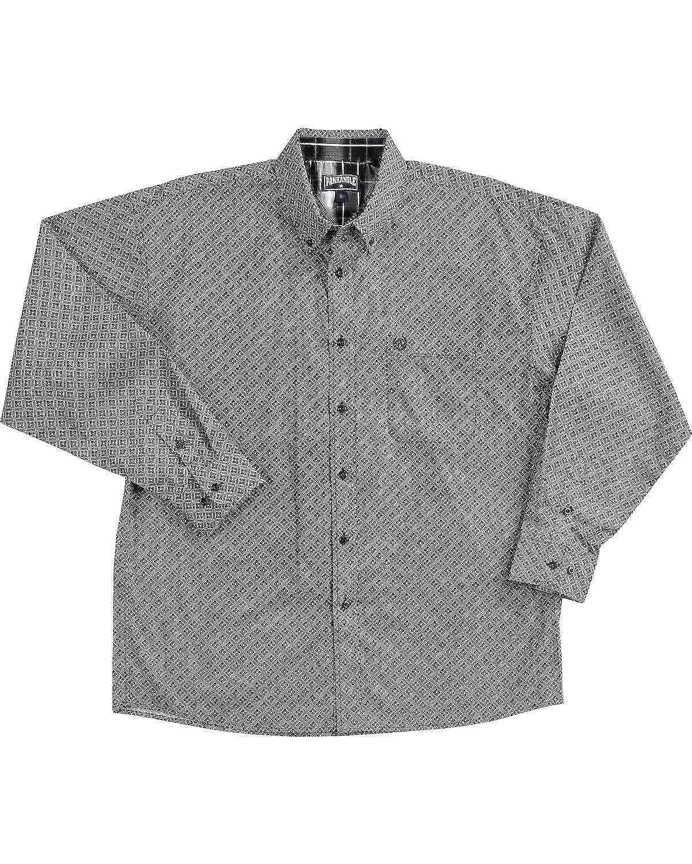 63e56c749cb4a Panhandle Men s Slim Long Sleeve Print Button Down Shirt Black Small at Amazon  Men s Clothing store