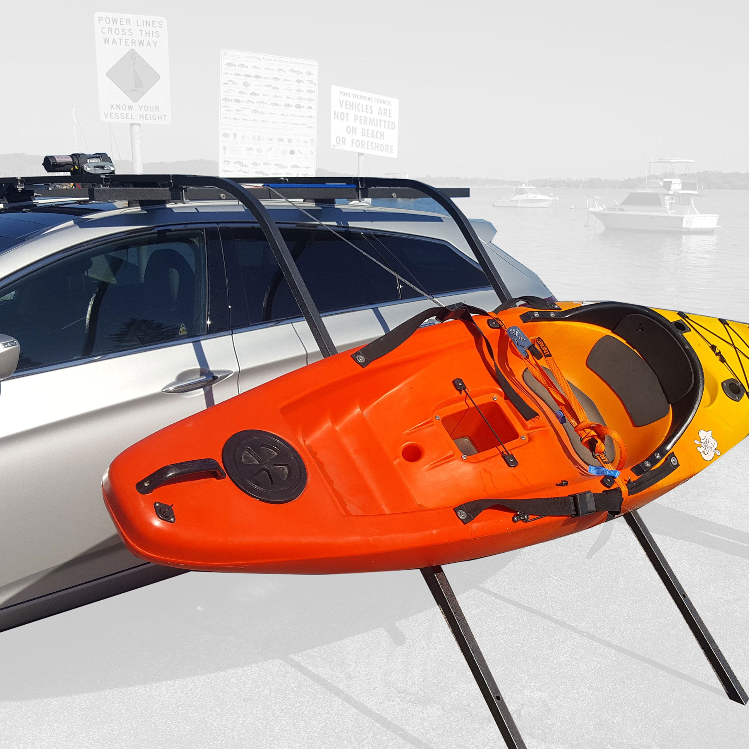 Sidewinder Kayak Loader, Winch, Remote Control Lift System