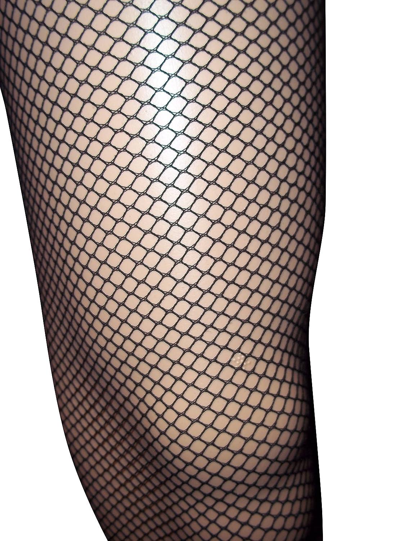 0b421ee8f511f Emmas Wardrobe Black Fishnet Tights - Diamond Net Leggings with Elastic  Waist - One Size Fits all (Black): Amazon.co.uk: Toys & Games