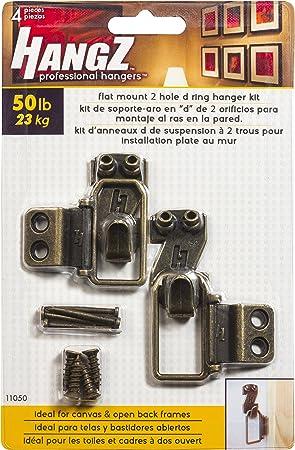 D Ring Aufhänger Satz für Bild Aufhängen Bronzeton 52mm x 20mm Details about  /50 Stk
