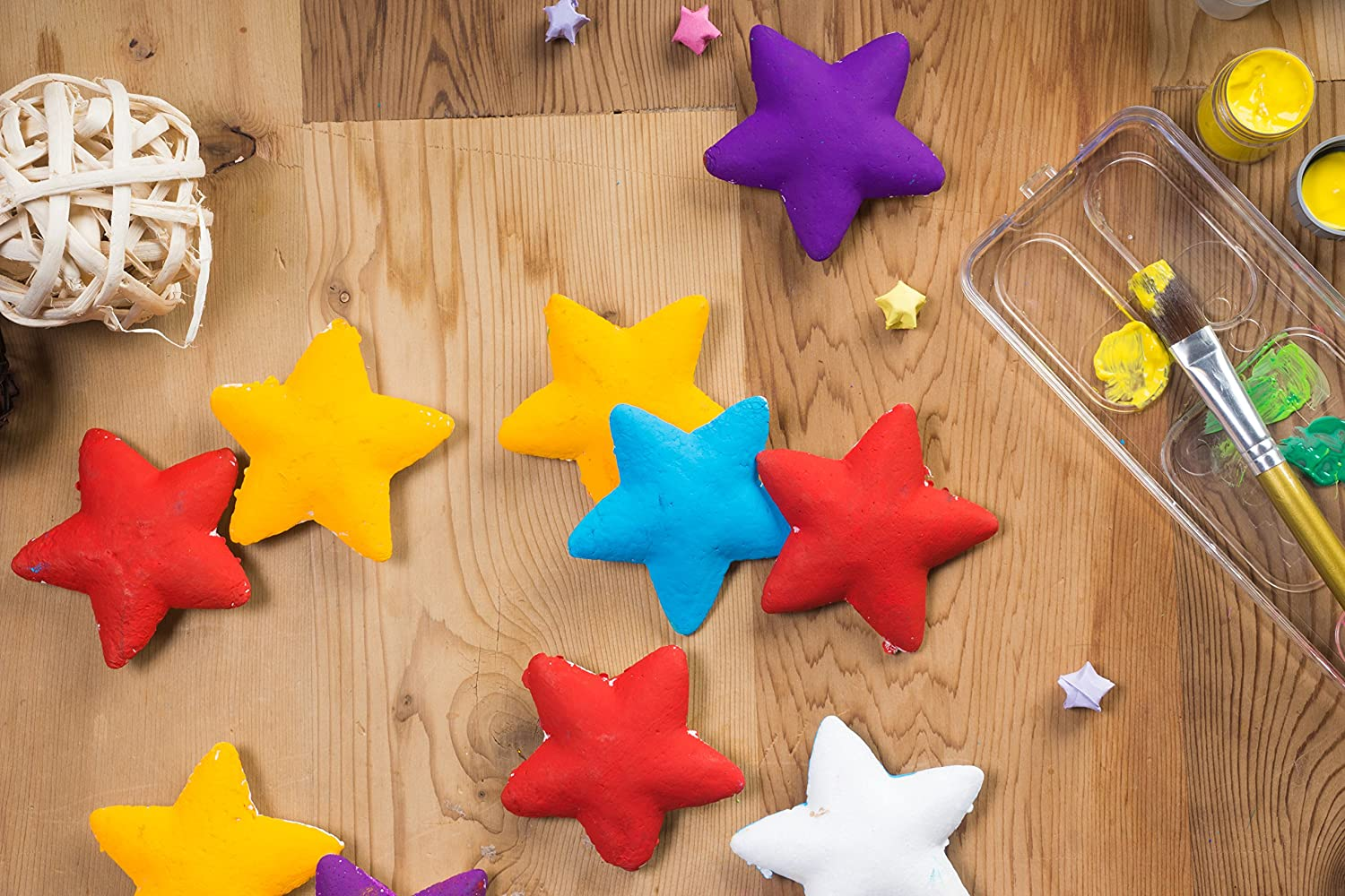 Makes DIY Ornaments and Decorations White 36-Piece Star-Shaped Polystyrene Foam for Arts and Craft Use 1.8 x 0.8 x 1.8 inches Craft Foam Stars
