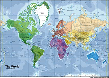 carte du monde geographie