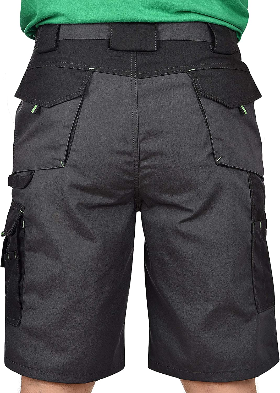 BWOLF Brave Arbeitshorts M/änner Arbeitshorts Herren Arbeitshorts mit multifunktionalen Seitentaschen R/ückentaschen verst/ärkt mit 600D Polyester