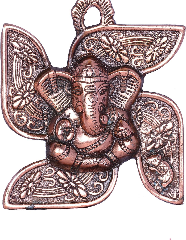 Ganesha Wall Art Swastika Ganesh OM Wall Hanging Swastik Metal Wall Decorative Religious Home Decorative