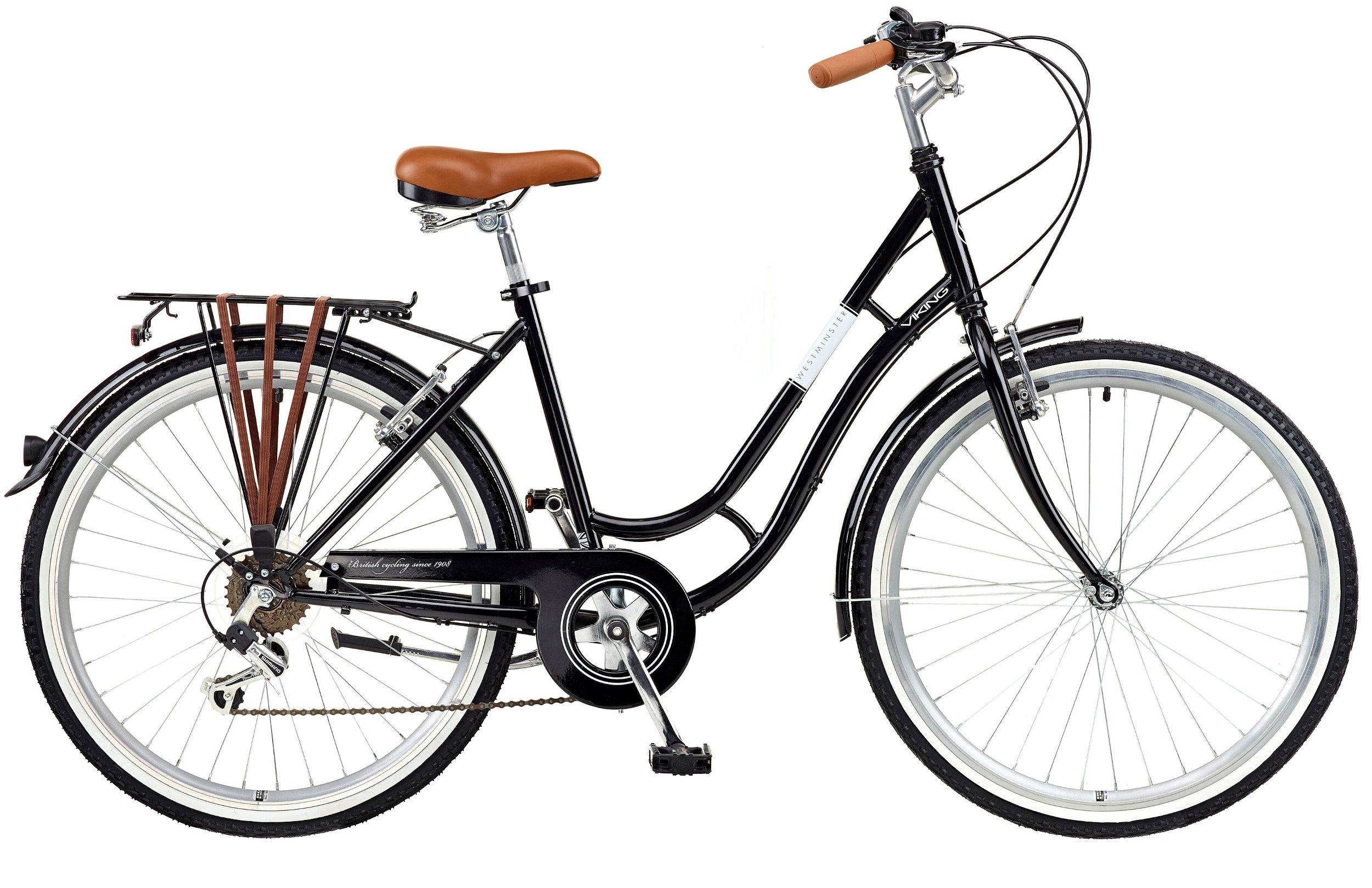 """Viking Women's Westminster Ladies Bicycle, Black, 18"""""""