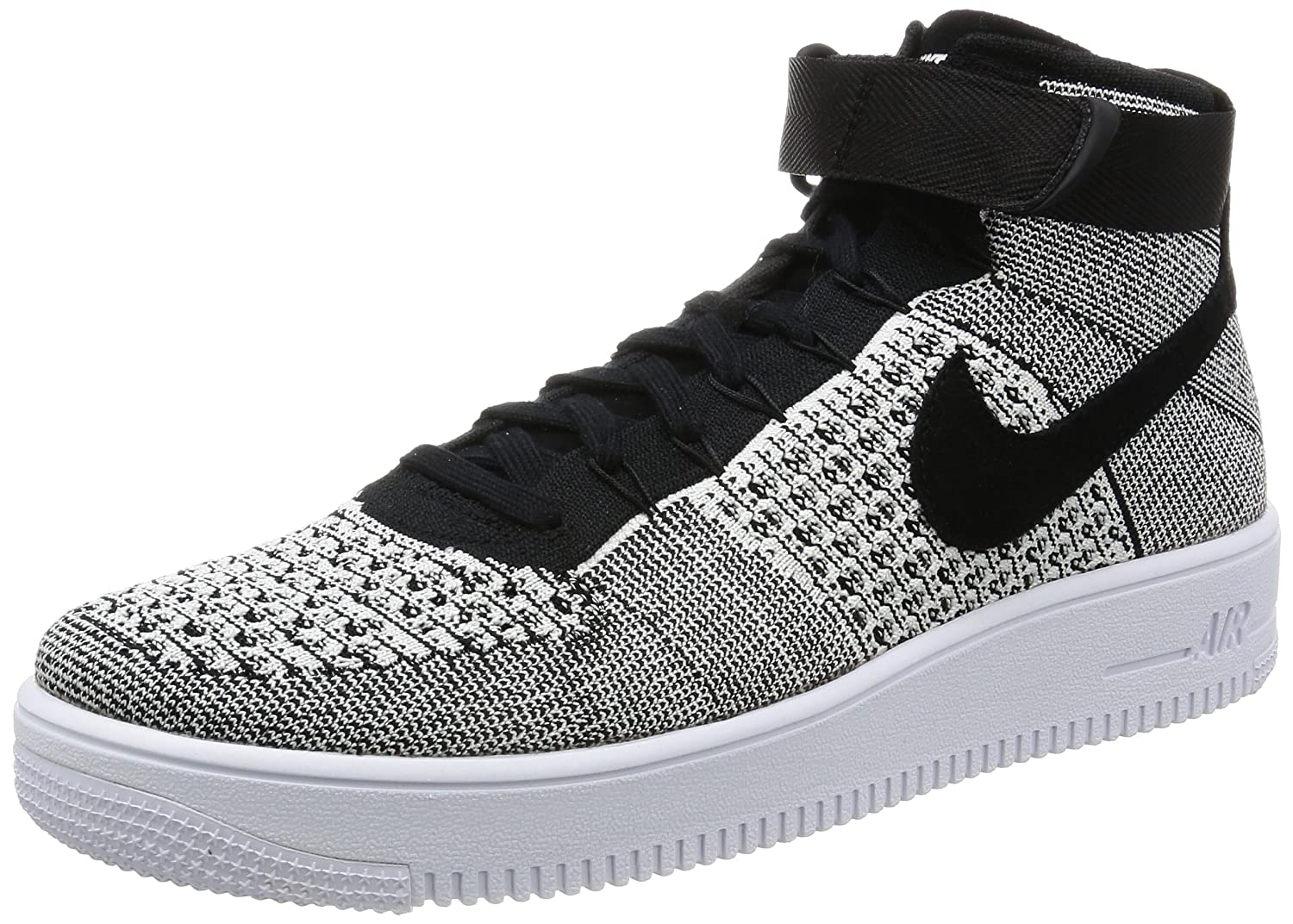 sneakers for cheap 4ff76 83a3d Nike Air Force 1 Ultra Flyknit MID Black White 817420-005 (Size  8. 5)  Buy  Online at Low Prices in India - Amazon.in