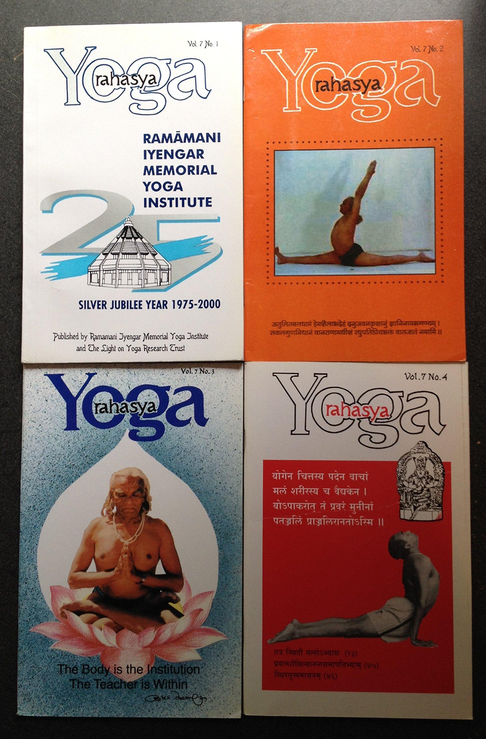 Yoga Rahasya, Volume 7 No. 1-4: BKS Iyengar; Prashant ...