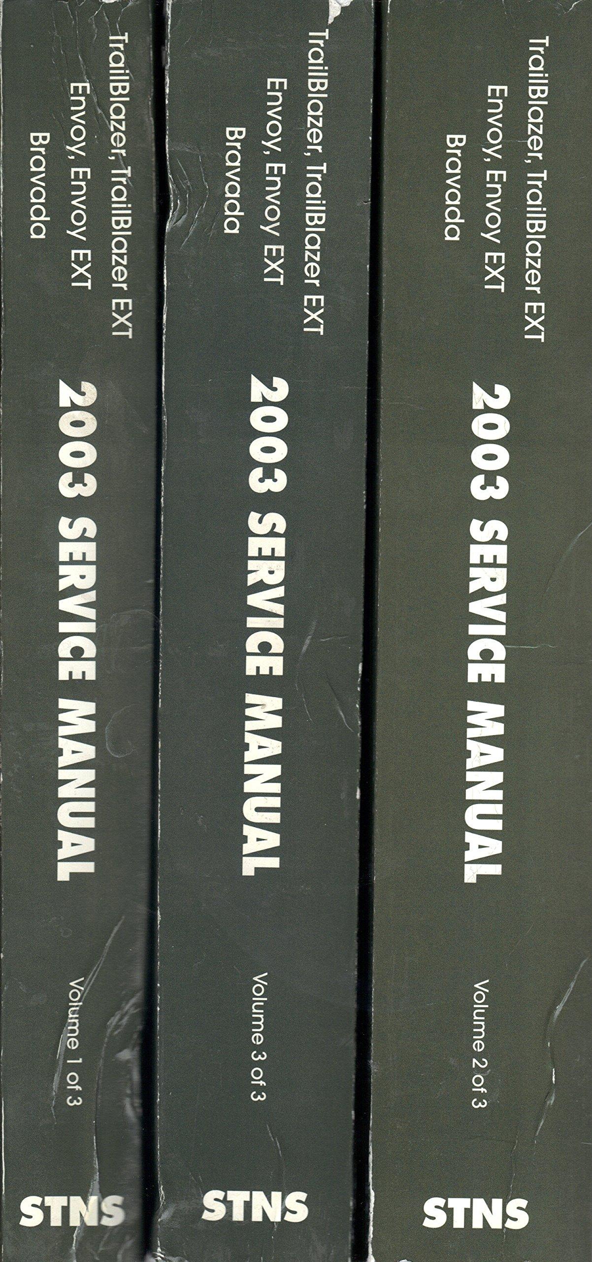 2003 Chevy Trailblazer EXT ENVOY & XL BRAVADA Service Shop Repair Manual SET  (3 volume set): gm: Amazon.com: Books
