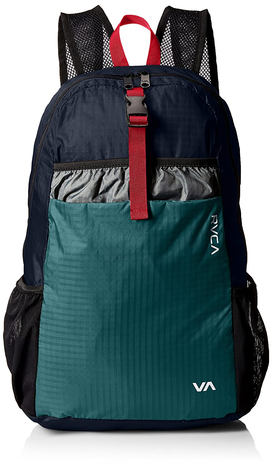 RVCA Men's Densen Packable Backpack black/blue ONE SIZE RVCA Young Men's MFABKDPB