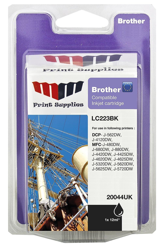 MMPS Brother LC223BK de inyección de tinta negra: Amazon.es ...