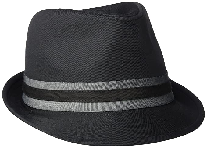 U.S. Polo Assn. Men s Twill Fedora with Two Color Grosgrain 191fe382338