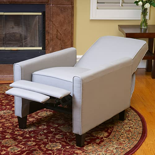 Lucas Gray Fabric Modern Sleek Recliner Club Chair