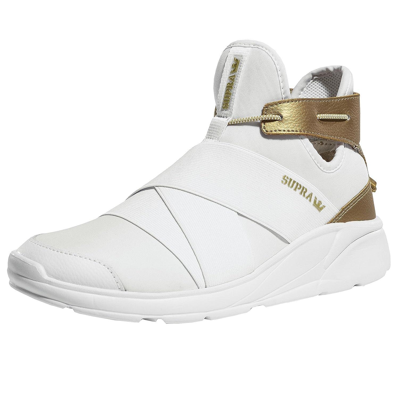 Supra Women's Anevay Shoes B074KHWK6Z 6 M US|White/Gold-white