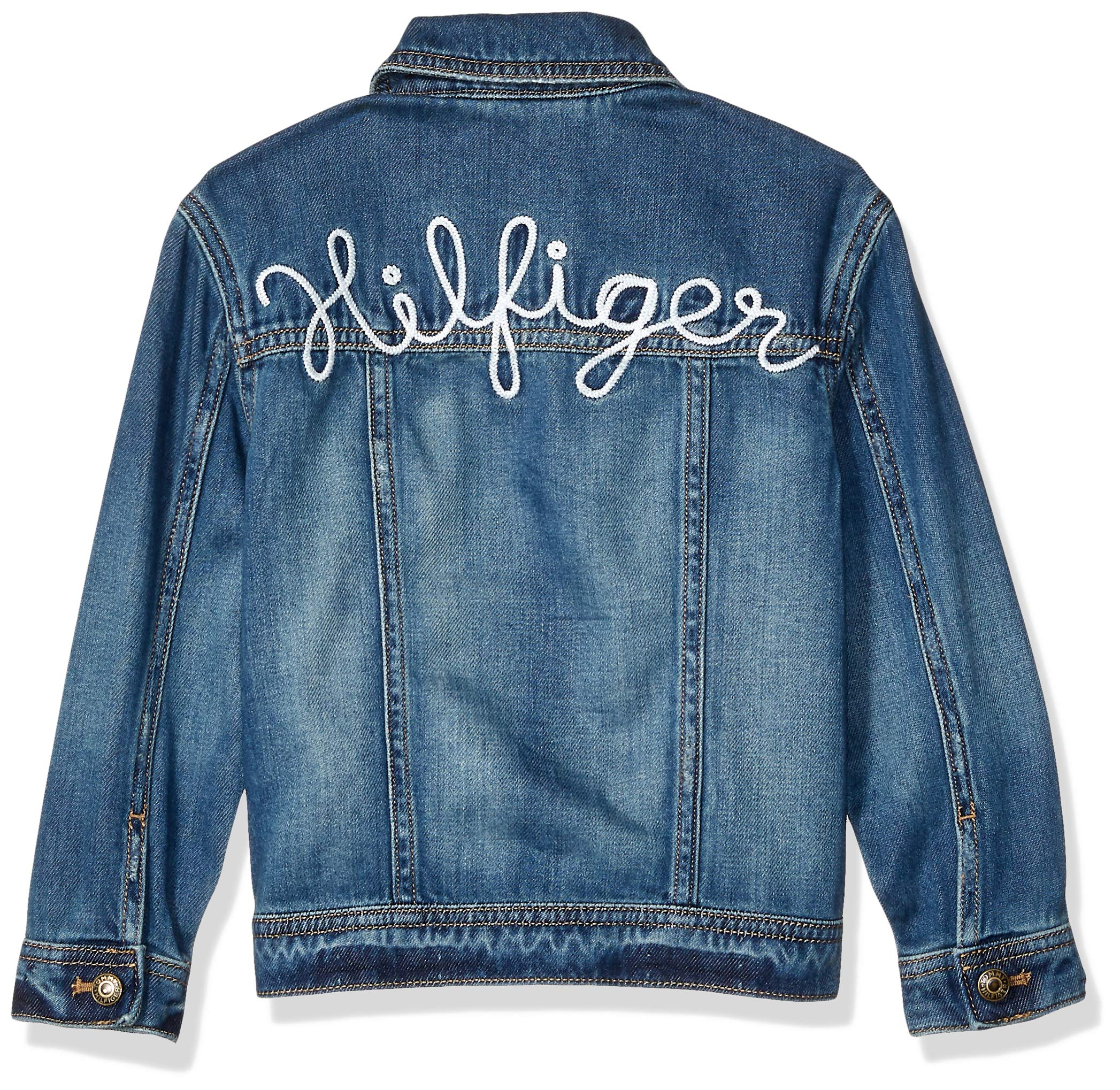Tommy Hilfiger Girls' Adaptive Jean Jacket with Magnetic Buttons, Vegas Wash S by Tommy Hilfiger (Image #2)