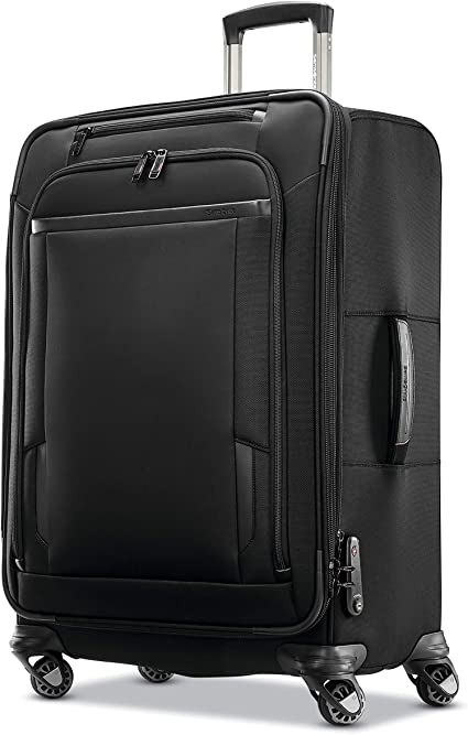 Black Samsonite Pro Travel Softside Expandable Luggage with Spinner Wheels