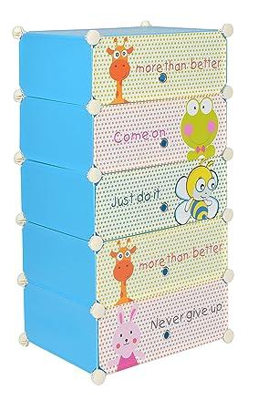 Ts Ideen Steckregal System Kinder Schuhschrank Kinderregal Steck Regal  Standregal Schuhregal Sideboard In Blau
