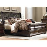 Liberty Furniture Arbor Place Bedroom King Sleigh Bed, Brownstone Finish