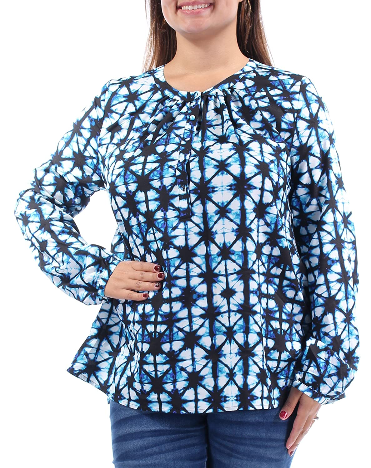 9016aa2a Tommy Hilfiger Women's Printed Long Sleeve Blouse Size M at Amazon Women's  Clothing store: