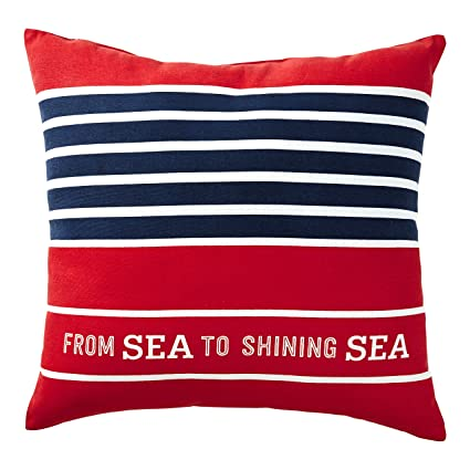 Amazon Com Hallmark Home Patriotic Indoor Outdoor Pillow From Sea