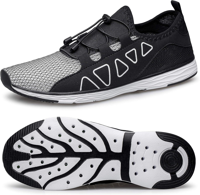 | vibdiv Men's Water Shoes - Quick Drying Outdoor Lightweight Sports Aqua Shoes | Water Shoes