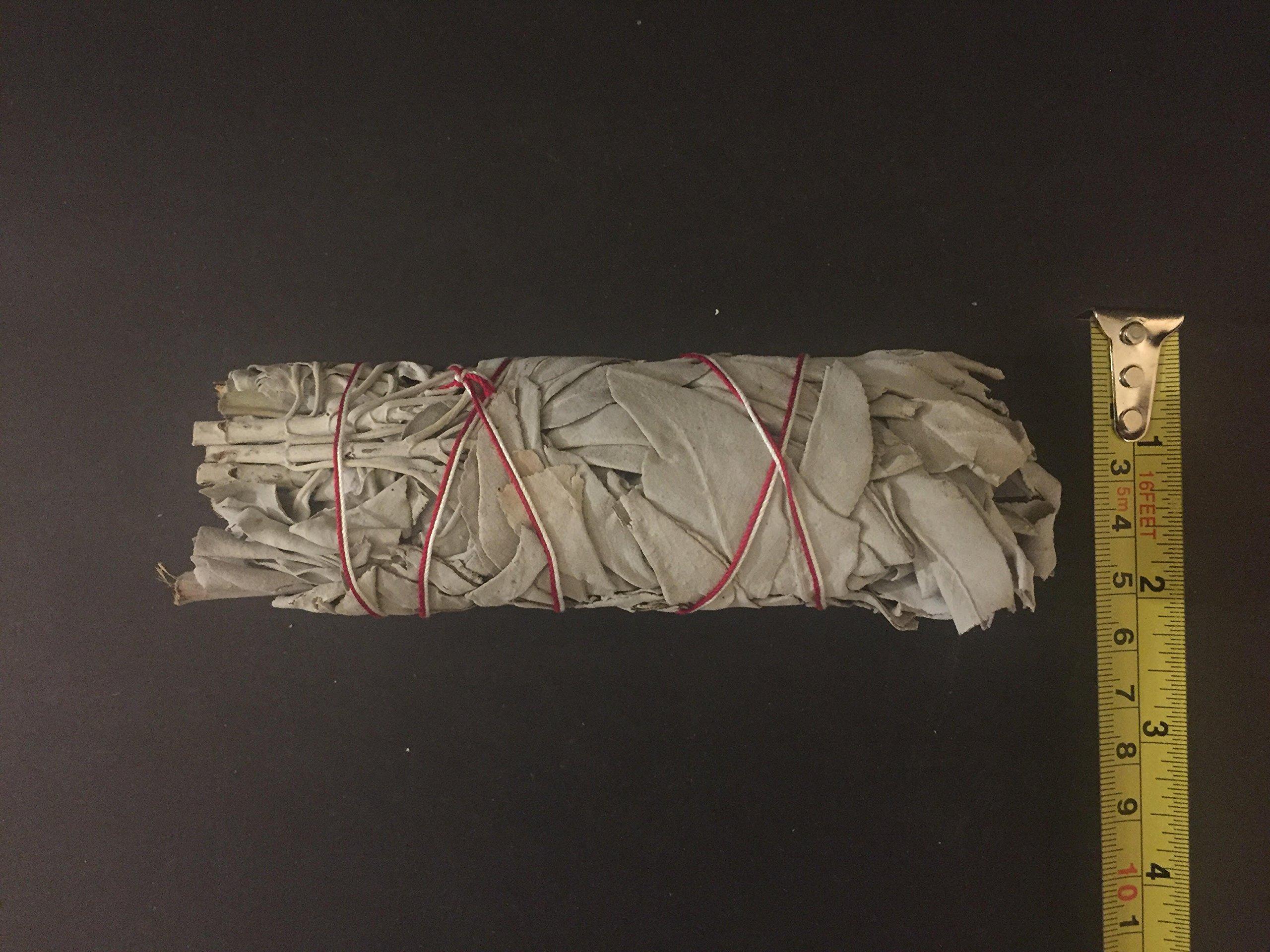 20 Pcs California White Sage Bundle Smudge Incense 5'' - 6'' by wincense (Image #3)