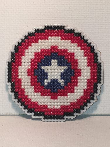 Counted Cross Stitch Pattern Free US Shipping Captain America Shield