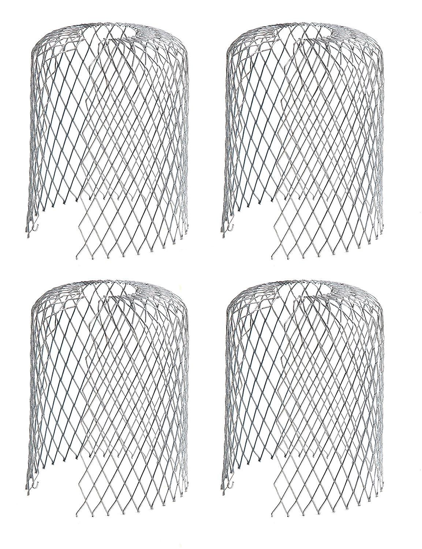 4er Set Rinnensieb Metall Dachrinnenschutz Fallrohrschutz Laubsieb Laubfang Bl/ättersieb Bl/ätterschutz Regenrohrschutz Schutzgitter Laub Verschmutzung Moos