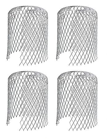 Rinne Bewachen Sieb 3 Zoll Mesh Rinne Fallrohr Bewachen f/ür Blatt und Regen Filter Rinne Bildschirm Abdeckungen 8 Packungen