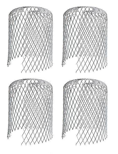 8 Packungen Rinne Bewachen Sieb 3 Zoll Mesh Rinne Fallrohr Bewachen f/ür Blatt und Regen Filter Rinne Bildschirm Abdeckungen