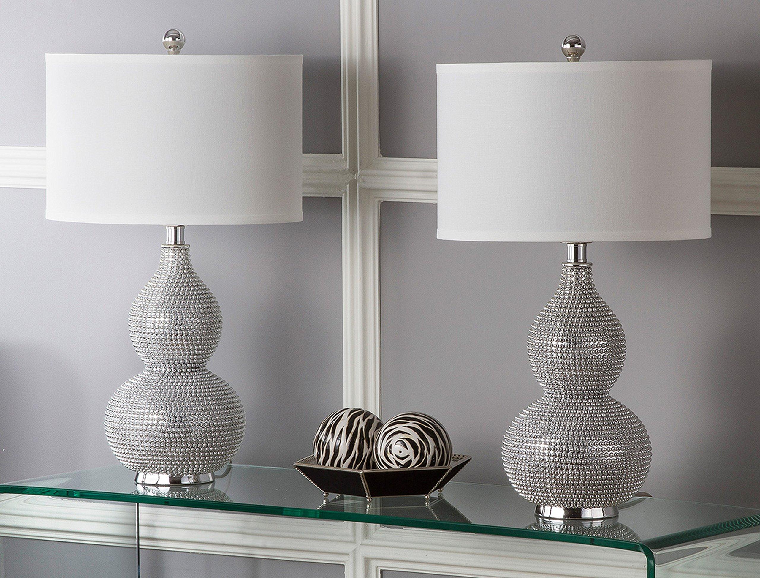 Safavieh Lighting Collection Nicole Bead Base 24-inch Table Lamp (Set of 2) by Safavieh