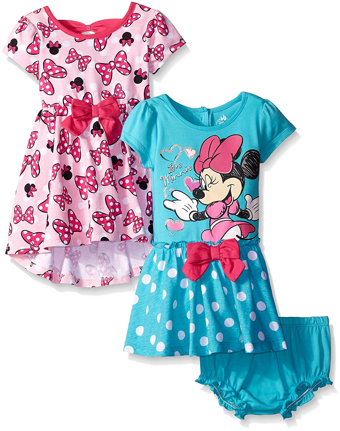 Amazon.com: Disney Baby Girls\' Minnie Mouse Rock The Dots Dresses ...