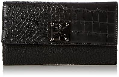 Fiorelli Chiltern, Portefeuilles femme, Black (Black Croc), 3.5x11.5x19 cm (W x H L)
