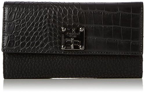 Womens Chiltern Wallet, Black (Black Croc) Fiorelli