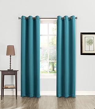 Sun Zero Becca Energy Efficient Grommet Curtain Panel, 40u0026quot; X 84u0026quot;,  ...