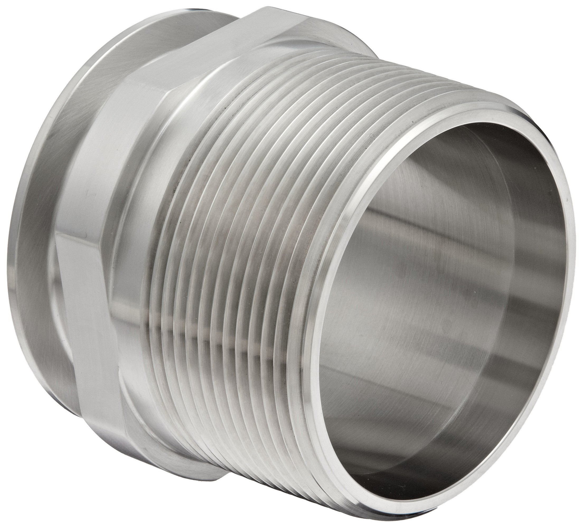 Dixon 21MP-G300 Stainless Steel 304 Sanitary Fitting, Clamp Adapter, 3'' Tube OD x 3'' NPT Male
