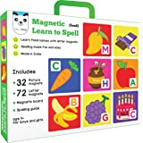 Play Panda Magnetic Learn to Spell : Food with 32 Picture, 72 Letter Magnets, Board and Spelling Guide