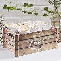 Beautiful Botanics - Wooden Effect Card Crate