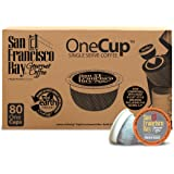 San Francisco Bay OneCup, Decaf French Roast, 80 Count- Single Serve Coffee, Compatible with Keurig K-cup Brewers