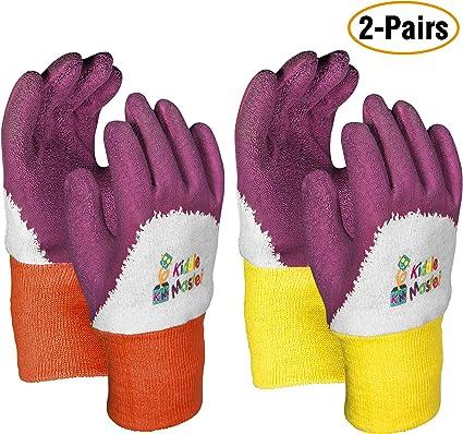 2 Pairs Ladies Pink Gardening Gloves Quality Soft Leather Girls Garden Gloves