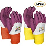 Kids Gardening Gloves by KIDDIE MASTER: 2-Pairs Children's Gardening Gloves Set (2-6 Years) for Home/School Gardening| Breath