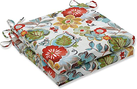 17.5 x 16.5 Floral Pillow Perfect Outdoor//Indoor Alatriste Ivory Chair Pad