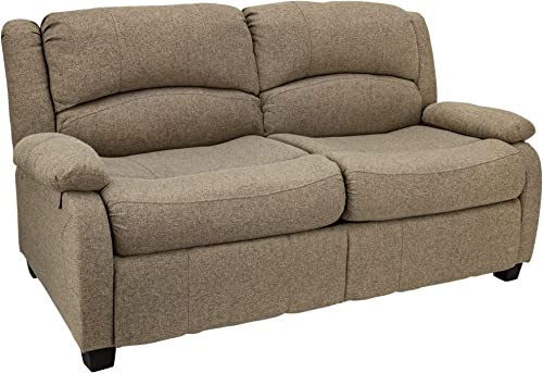 RecPro 65″ RV Hide A Bed Loveseat | RV Sleeper Sofa | Cloth | Memory Foam Mattress | Pull Out Couch | RV Furniture | RV Loveseat | RV Living Room Furniture | RV Couch Oatmeal