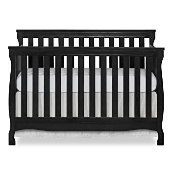 Dream On Me Ashton Full Panel Convertible 5-in-1 Crib with Dream On Me Spring Crib and Toddler Bed Mattress Twilight