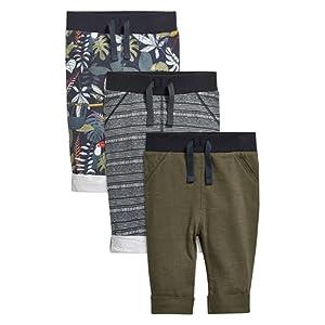 next Lot de trois pantalons de jogging multicolores (0 à 2 ans) Standard Garçon Bébé