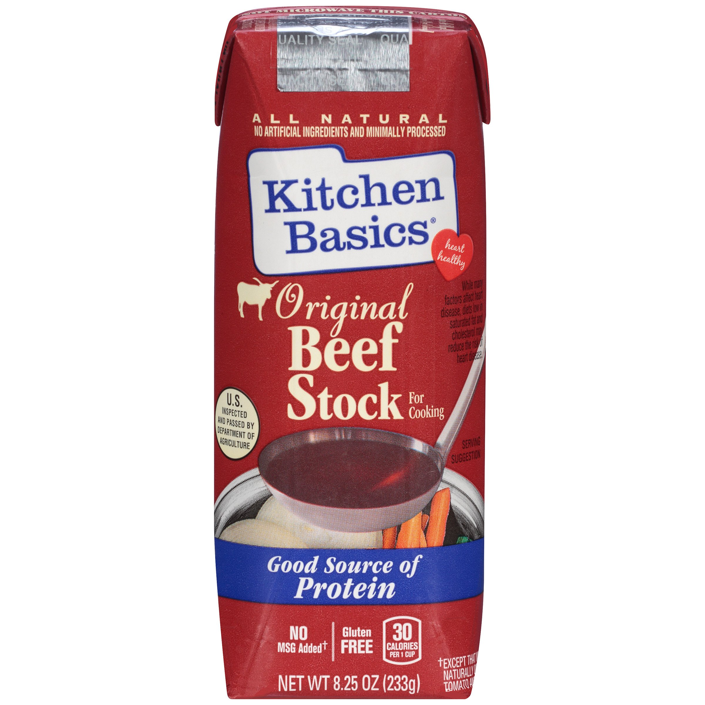 Kitchen Basics All Natural Original Beef Stock, 8.25 fl oz (Pack of 12)