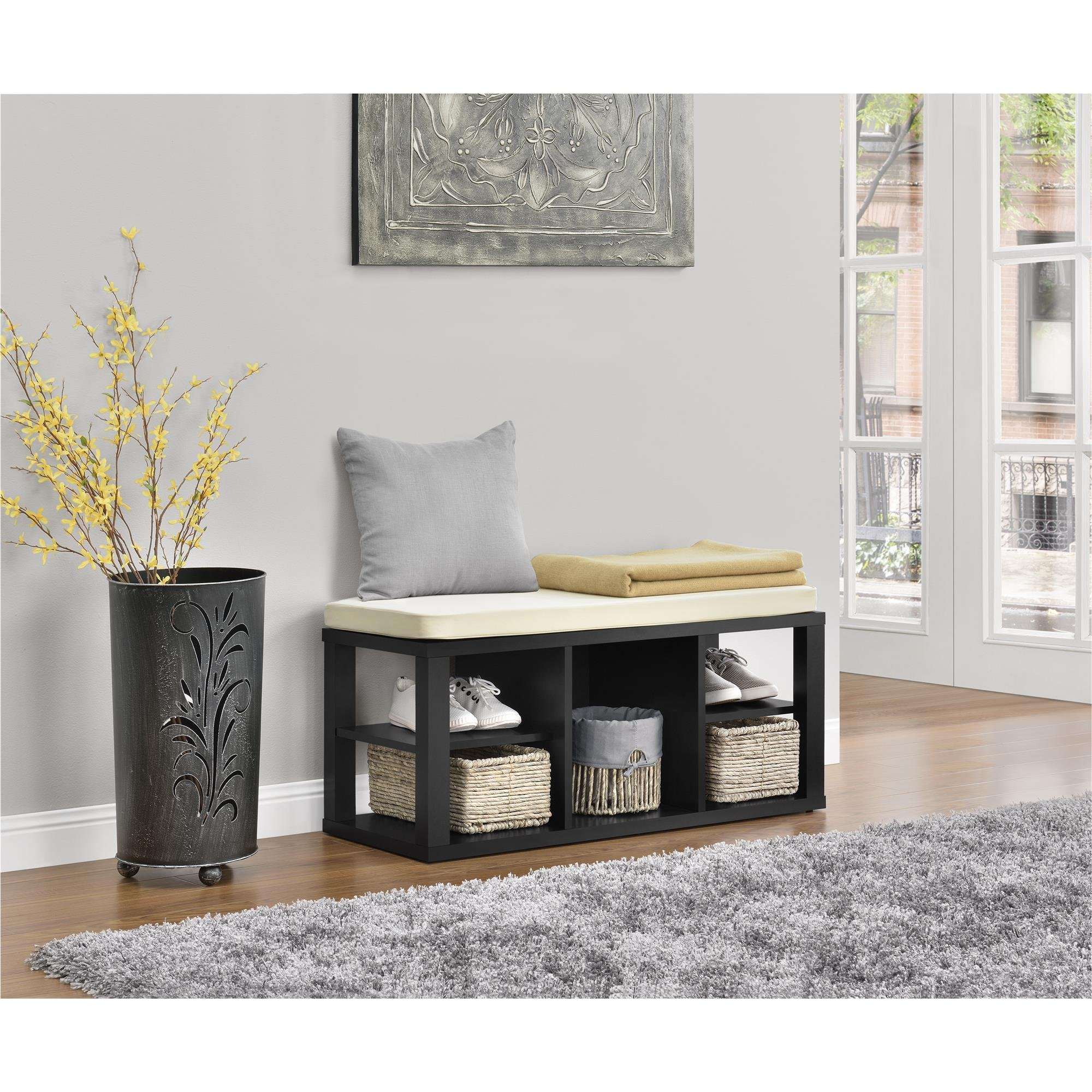 Ameriwood Home Parsons Storage Bench, Black by Ameriwood Home (Image #6)